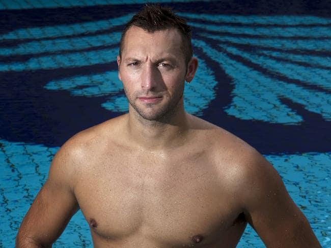 Ian Thorpe poses at the Pan Pacific Hotel on November 1, 2011 in Singapore.
