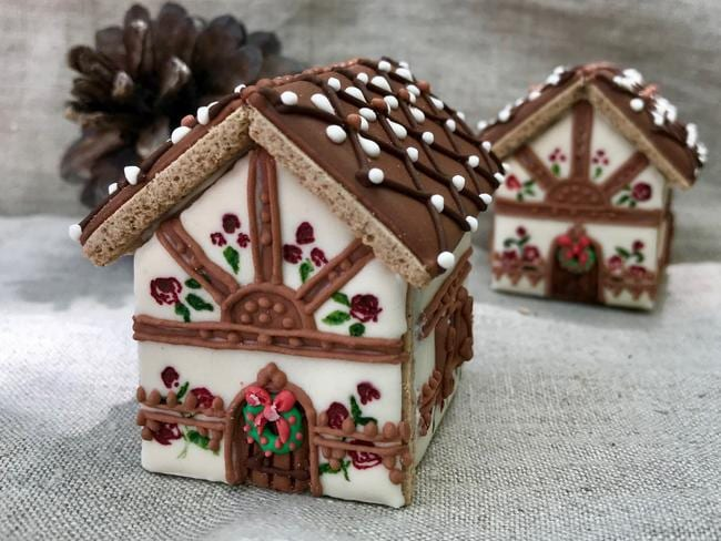 Wieczorkowski Fine Foods' mini Artisan Gingerbread house. Picture: Supplied