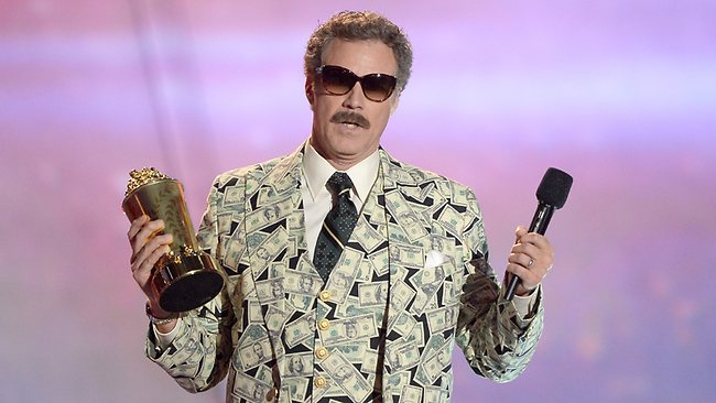 Will Ferrell accepts the Comedic Genius Award at the 2013 MTV Movie Awards. Picture: Getty Images