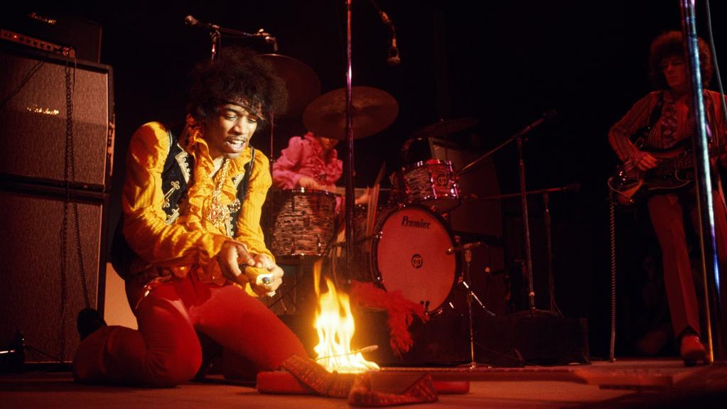 The night guitar legend Jimi Hendrix set fire to his ...