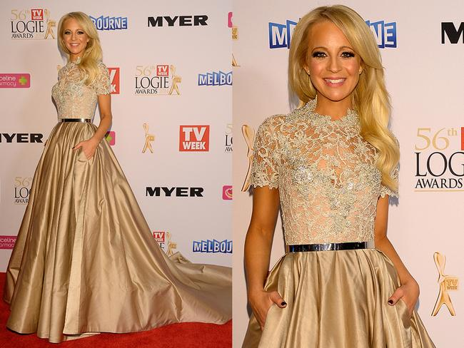 Carrie Bickmore at the 2014 Logies.