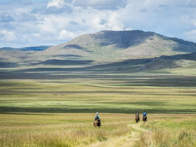 Crossing remote and harsh Mongolian countryside. Picture: Richard Dunwoody