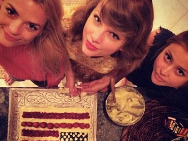 King and Swift cooked up a feast, including American-themed desserts. Picture: Instagram
