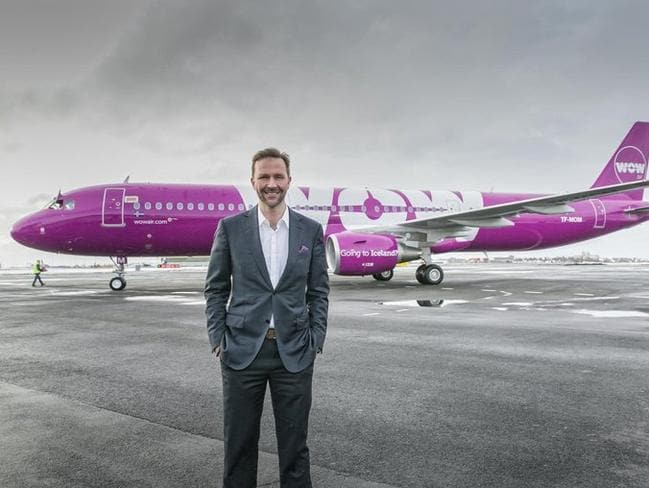 WOW Air founder and CEO Skuli Mogensen. Picture: WOW air