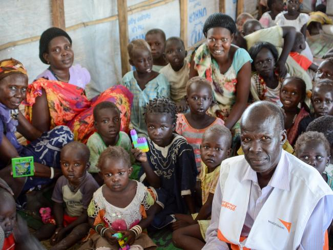 A child friendly space and a safe zone for children who have witnessed the worst of humanity on a UN camp in Malakal, South Sudan. Picture: World Vision