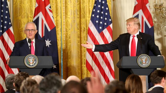 Donald Trump says relations between Australia and the US are 'stronger now than ever before'. Picture: Nathan Edwards