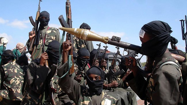 Armed al Shabab fighters are show in in this file photograph from 2008. AP / Farah Abdi Warsameh