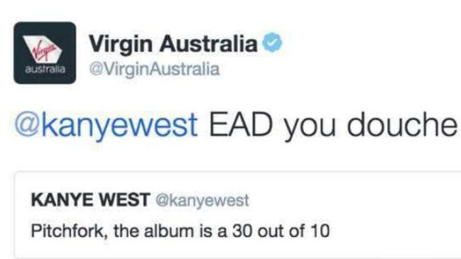Virgin Australia's tweet.
