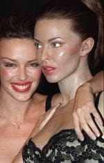 <p>Kylie Minogue (real one on left)</p>