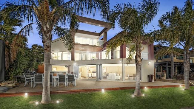 The house itself spans three levels, and provides more than 550sq m of living space.