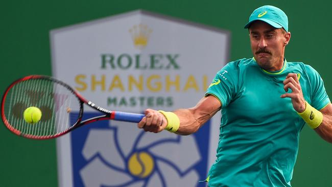 Steve Johnson advanced after Nick Kyrgios sensationally quit following the first set.