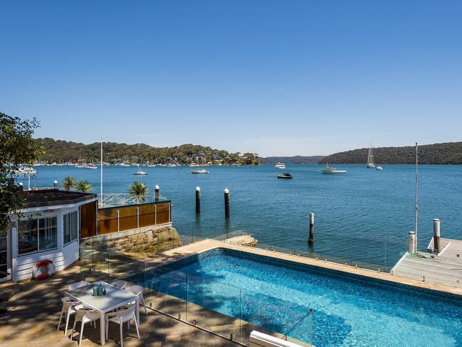 His stunning waterfront home at 963 Barrenjoey Rd, Palm Beach.
