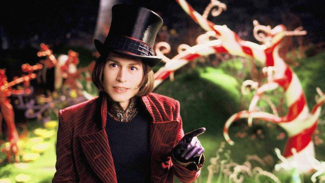 Johnny Depp as Willy Wonka in the 2005 film, Charlie and the Chocolate Factory.