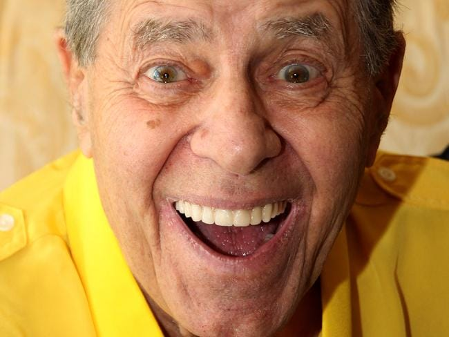 Comedian Jerry Lewis died in his Las Vegas home. Picture: Supplied