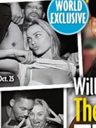 Clowning around ... Co-stars Margot Robbie and Will Smith in the controversial leaked photos. Picture: Star