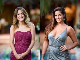 The Bachelor contestants Cobie and Elora. Suppled: Network TEN