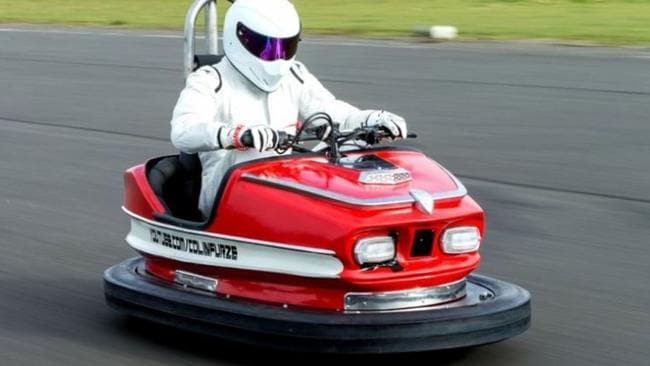 Supplied Editorial Top Gear's The Stig sets world record in restored dodgem car. Picture: BBC