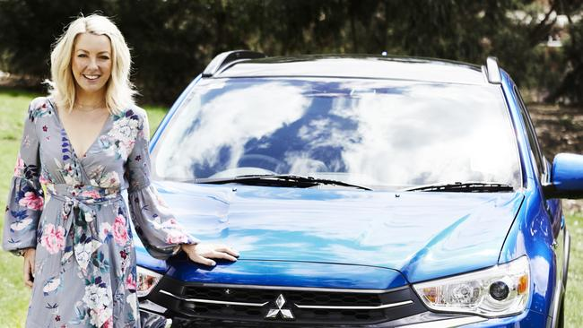 Nutritionist Lola Berry and her Mitsubishi ASX. Pic: Armelle Habib.