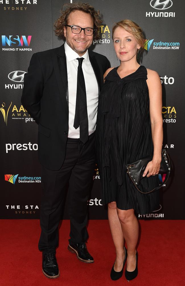 Jeremy Simms and Tania Leimbach arrive ahead of the 5th AACTA Awards Presented by Presto at The Star on December 9, 2015 in Sydney, Australia. Picture: AAP