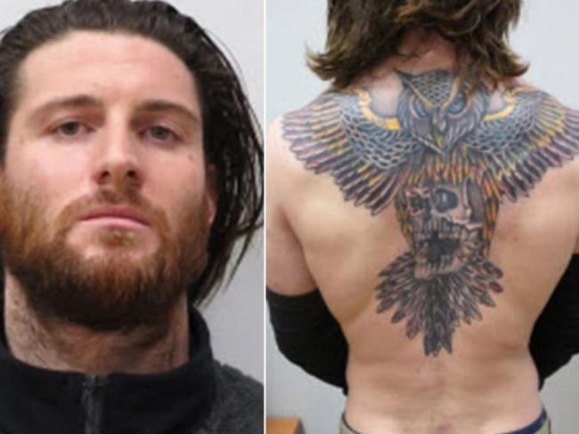 Shane O'Brien drastically changed his appearance, including the massive back tattoo, to help him evade authorities. Picture: Metropolitan Police