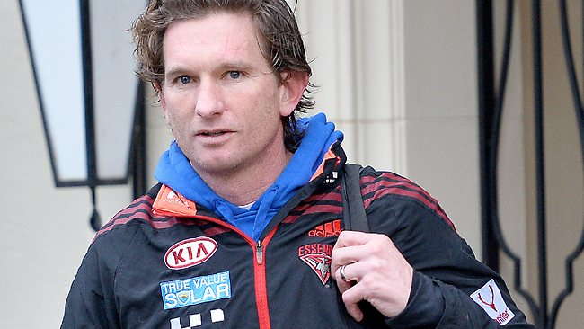 Essendon AFL coach James Hird leaves his Toorak home this morning. Picture: Nicole Garmston