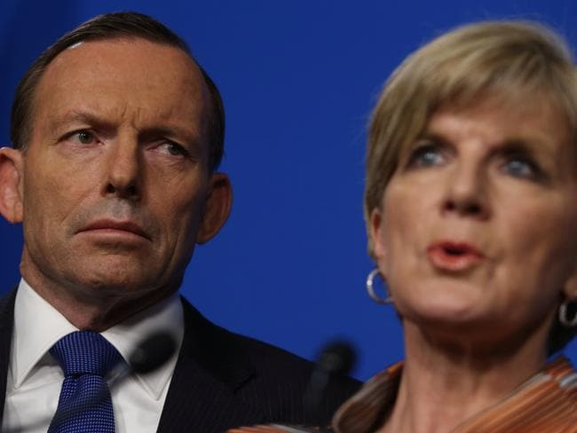 PM Tony Abbott and Foreign Affairs Minister Julie Bishop have announced sanctions against Russia Picture: Gary Ramage