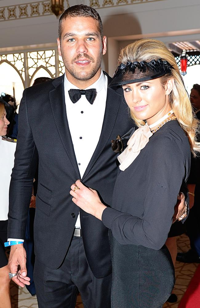 Flemington Derby Day Races, Emirates Marquee Buddy Franklin and Jesinta Campbell