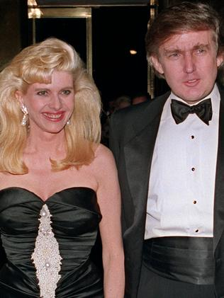 Donald Trump and his wife Ivana in 1989. Picture: AFP