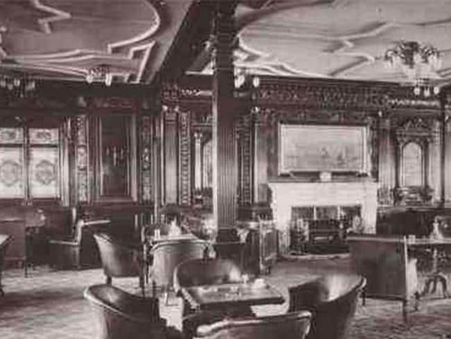 The smoking room then. Picture: Bluestarline.com.au