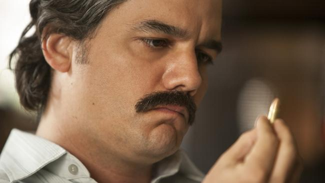Wagner Moura as Pablo Escobar in a scene from Netflix series Narcos.
