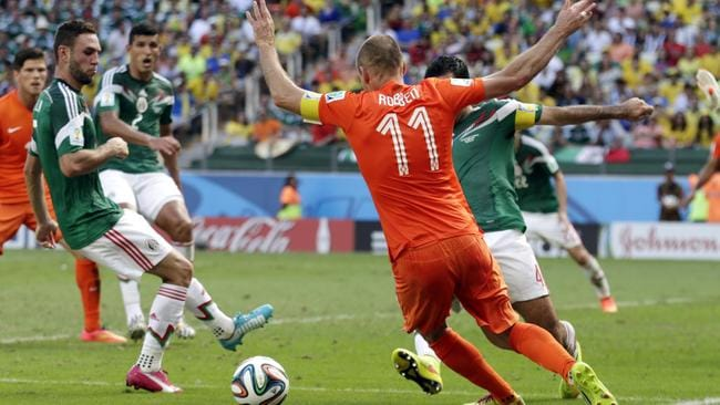 But later, Robben goes down for the game winning penalty.