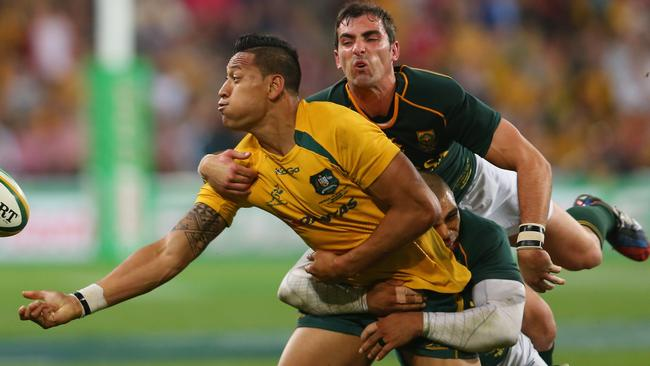 Israel Folau is yet to score a try against the All Blacks.