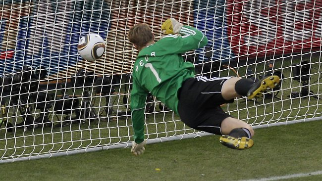 Following incidents like England's disallowed goal against Germany at the 2010 World Cup (above), FIFA has picked GoalControl as its preferred choice of goal-line technology system. Picture: Michael Sohn