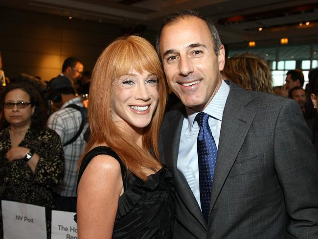 Kathy Griffin and Matt Lauer. Picture: Getty.