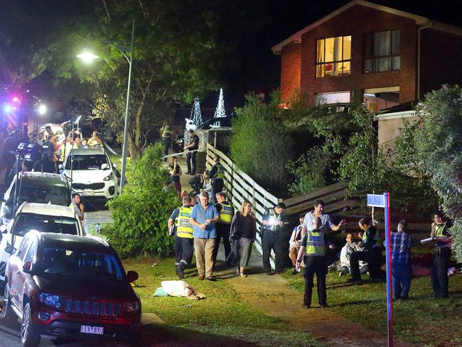 The scene at Balinga Court on Saturday night. Picture: Patrick Herve