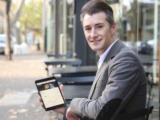 Investor Peter Chapman, 32, with technology for moneysaverHQ