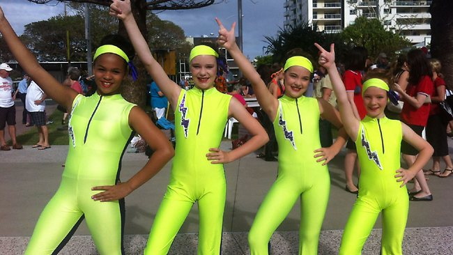 Bee Gees fever is not lost on the younger generation. Well done Ally Reese, Morgan Crase, Aliarna Witte and Gabi Joseph from Sharon Alback Dance Centre.