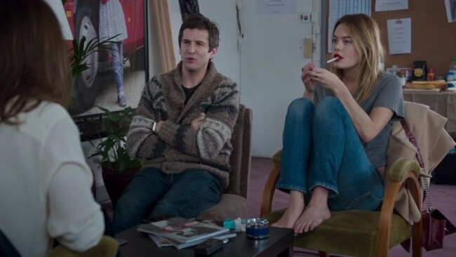 Guillaume Canet and Camille Rowe are interviewed by Jeanne Damas in 'Rock'n'Roll'. Photo: YouTube