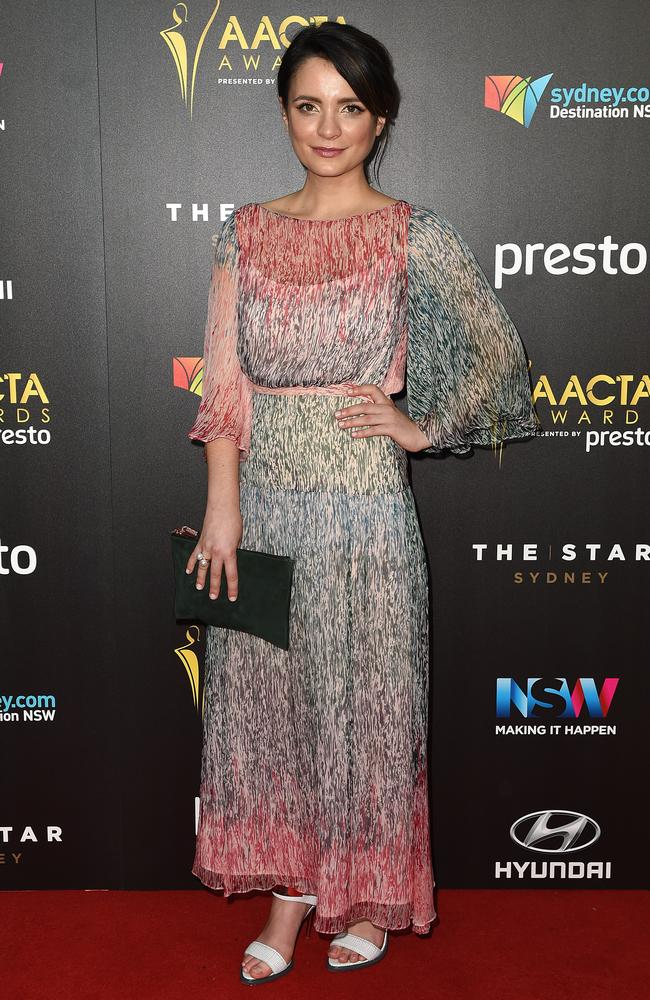 Jessica Tovey arrives ahead of the 5th AACTA Awards Presented by Presto at The Star on December 9, 2015 in Sydney, Australia. Picture: AAP