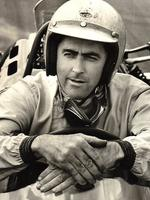 Sir Jack Brabham pictured at the height of his racing glory days.