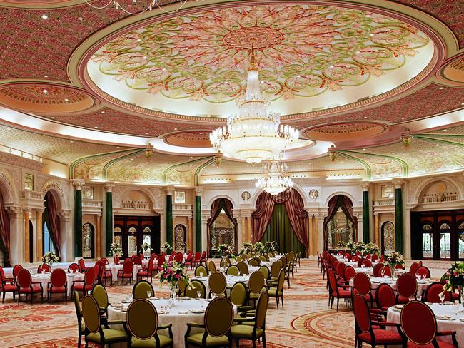 One of the opulent dining rooms at The Ritz Carlton in Riyadh, where almost 50 Saudi princes and dignitaries are being detained.