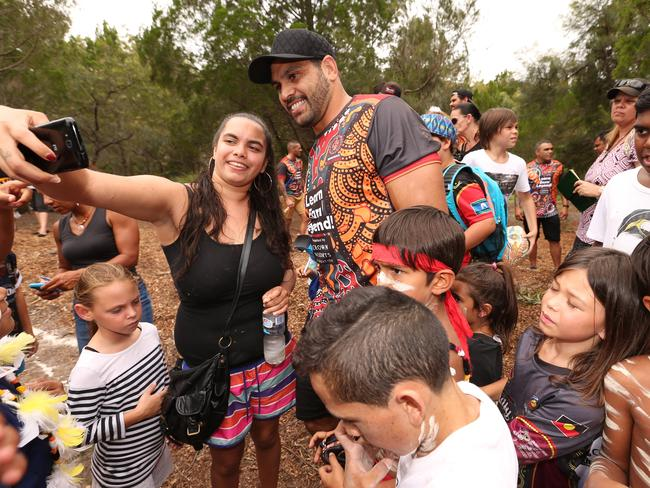 Greg Inglis mingles with the community ahead of the All Stars game.