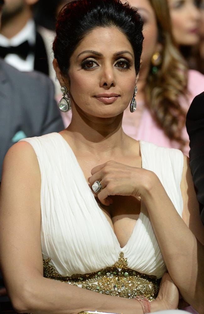 Sridevi Kapoor attends the 15th International Indian Film Academy (IIFA) Awards in Tampa, Florida in 2014. Picture: Jewel Samad/AFP