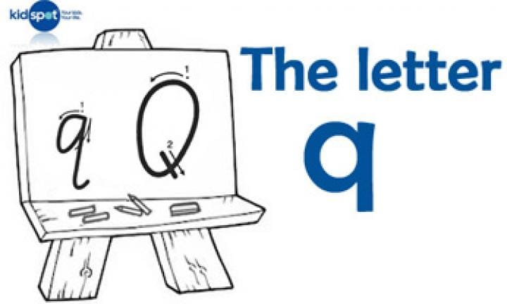 Handwriting: The letter q