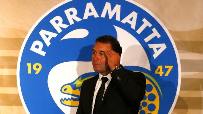 Parramatta Eels coach Ricky Stuart quit the club for Canberra at the end of a disastrous season. Picture: Nic Gibson