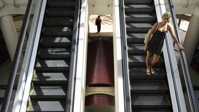 Escalators probably look like this in Tokyo.