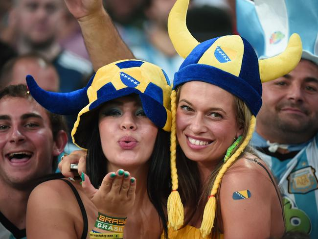 Bosnia may have lost but their fans showed plenty of talent.