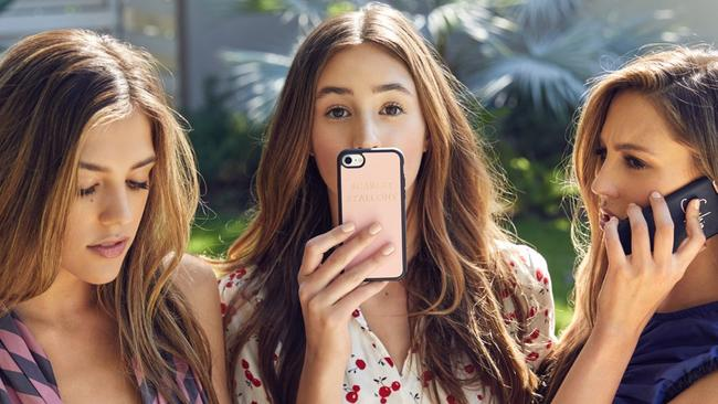 Sistine, Sophia and Scarlet Stallone in model mode for Aussie accessory label, TDE
