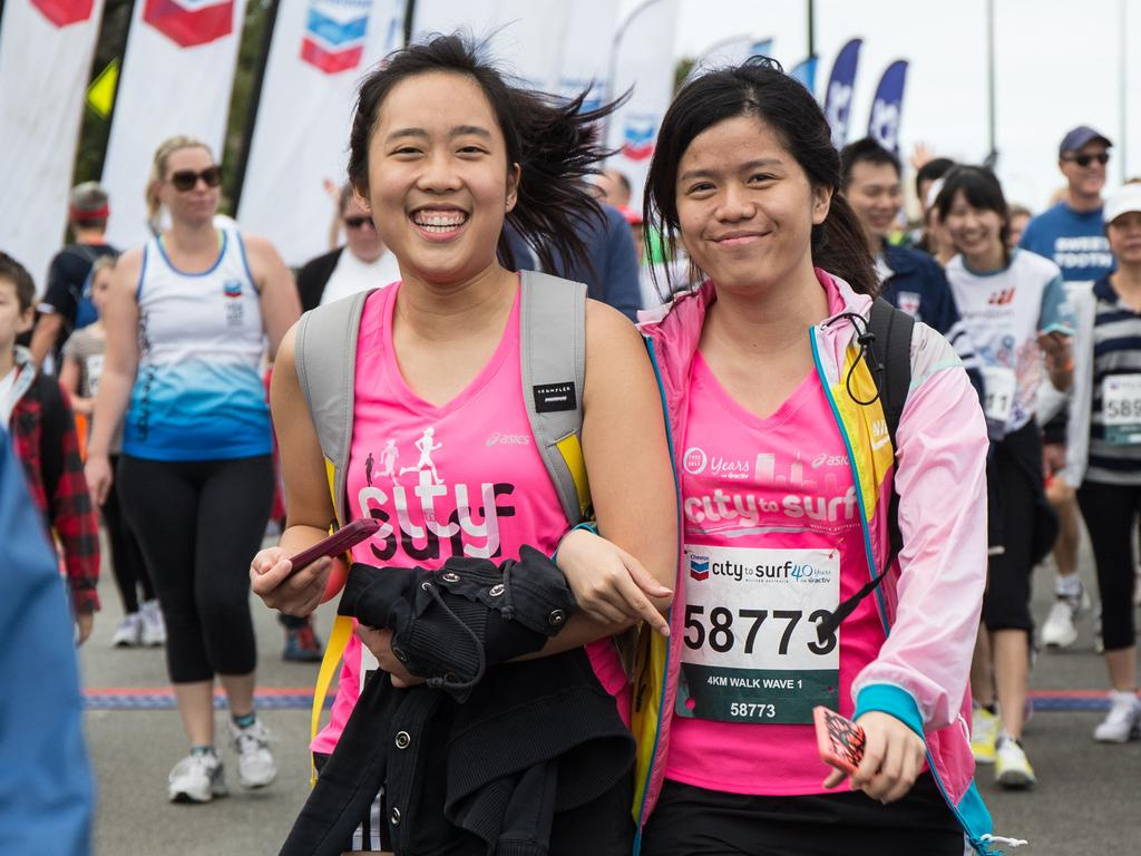 Action from the 2014 City to Surf for Activ. Picture: Matthew Poon