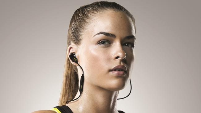 More than just an earphone ... the Jabra Sport Pulse Wireless Earbuds measure the wearer's heart rate.